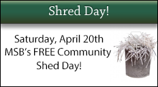 MSB Shred Day